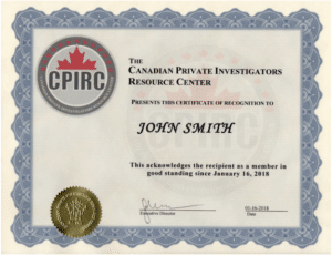 Private Investigator Certificate